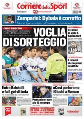Corriere Dello Sport Voglia Di Sorteggio Calciomercato