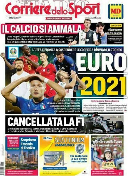 Corriere Dello Sport Euro 2021 Calciomercato