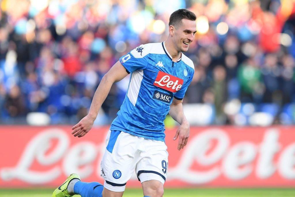 Calciomercato Napoli Milik Napoli-Juventus