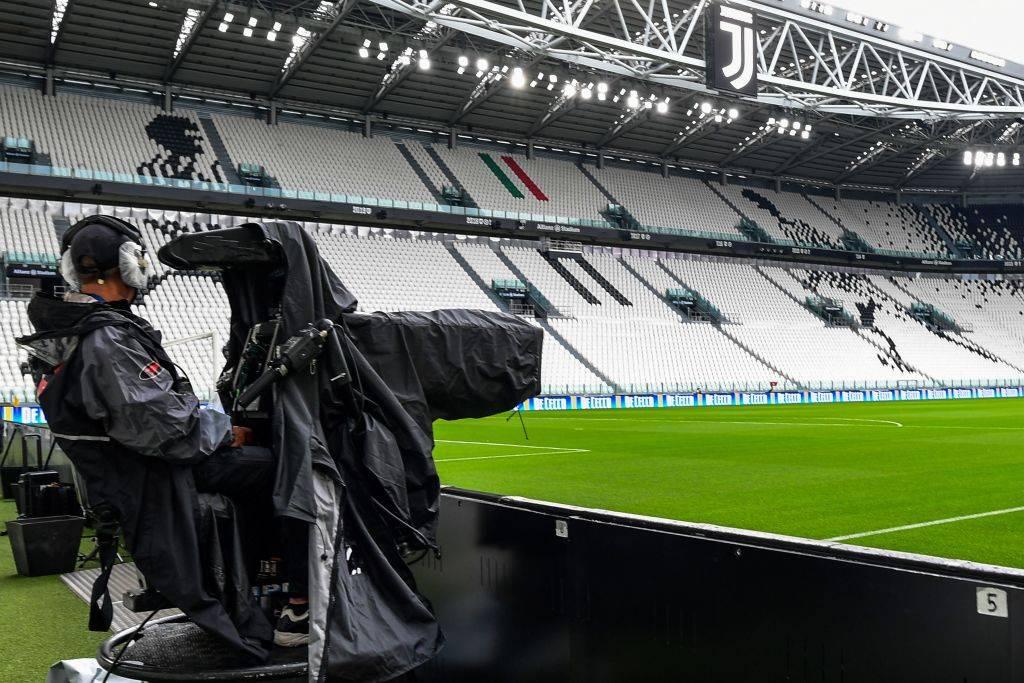 Juventus-Milan, operatore televisivo