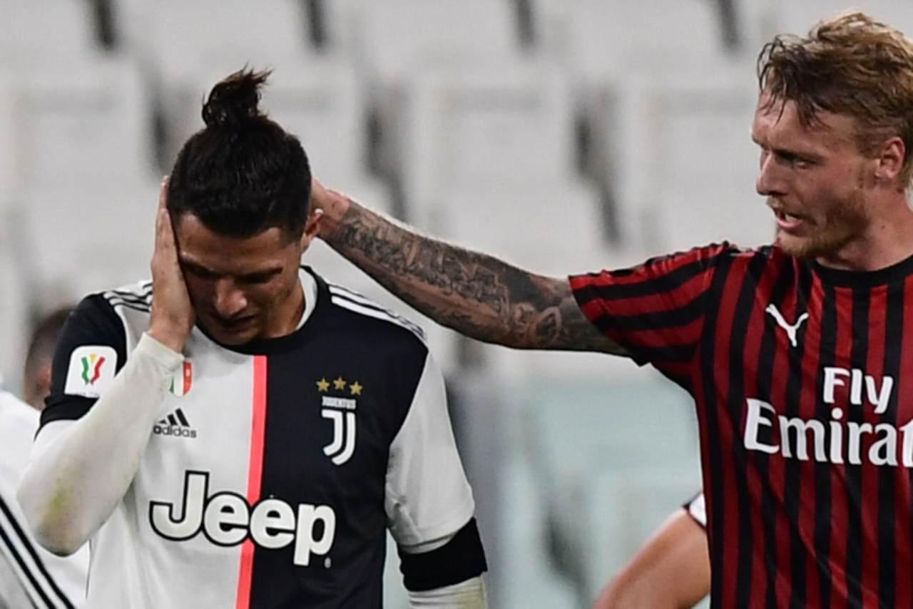 Kjaer infortunio Milan