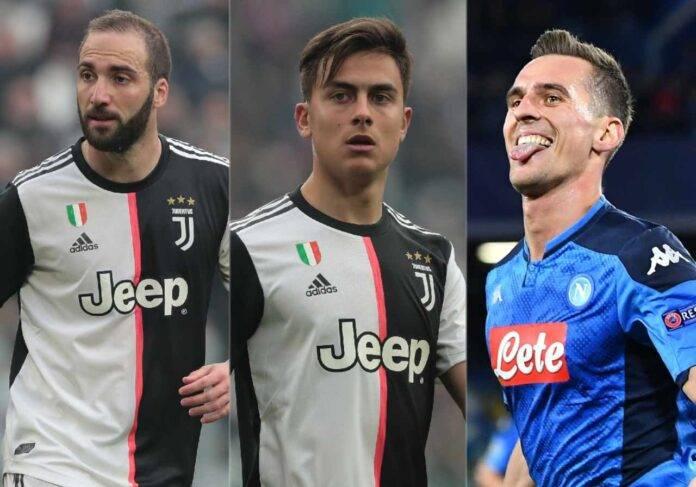 Calciomercato Juventus Higuain Dybala Ronaldo Milik Haaland