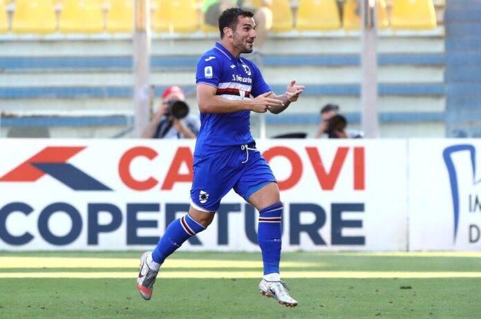 Parma-Sampdoria, il gol di Bonazzoli