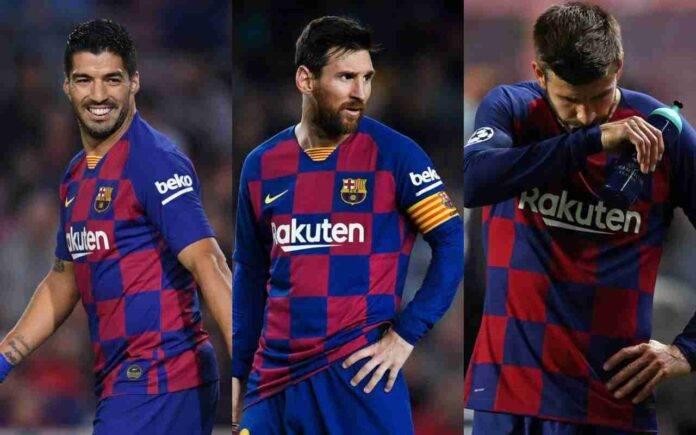 Barcellona Messi Suarez Pique