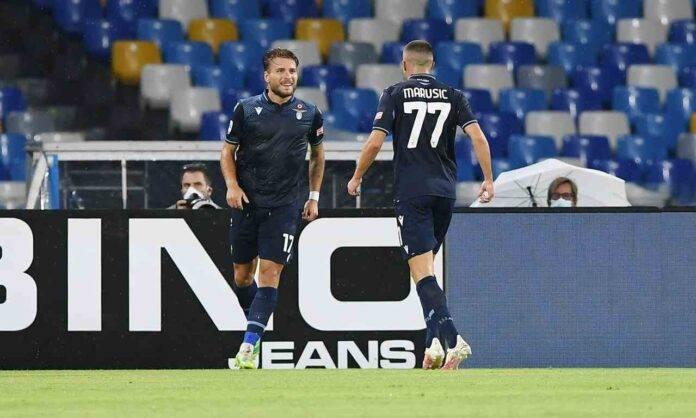 Immobile pagelle Napoli Lazio