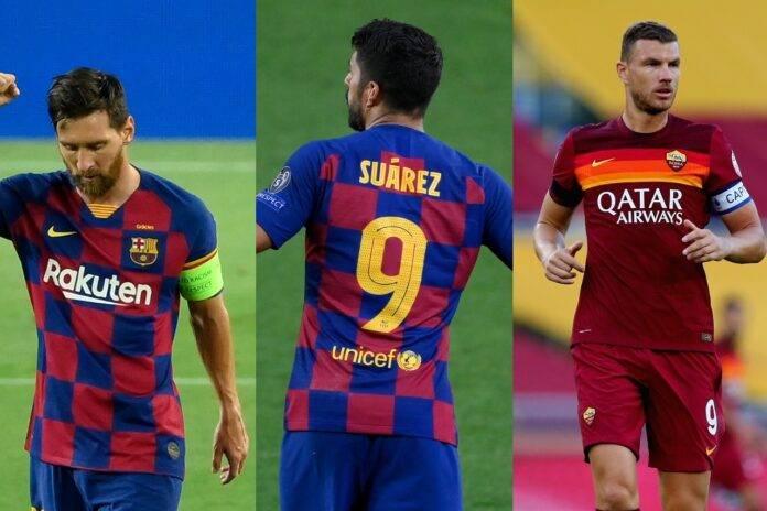calciomercato Messi Suarez Dzeko