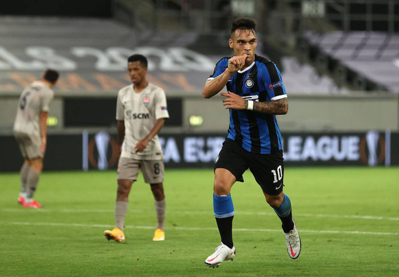 Lautaro Martinez dopo Inter-Shakhtar