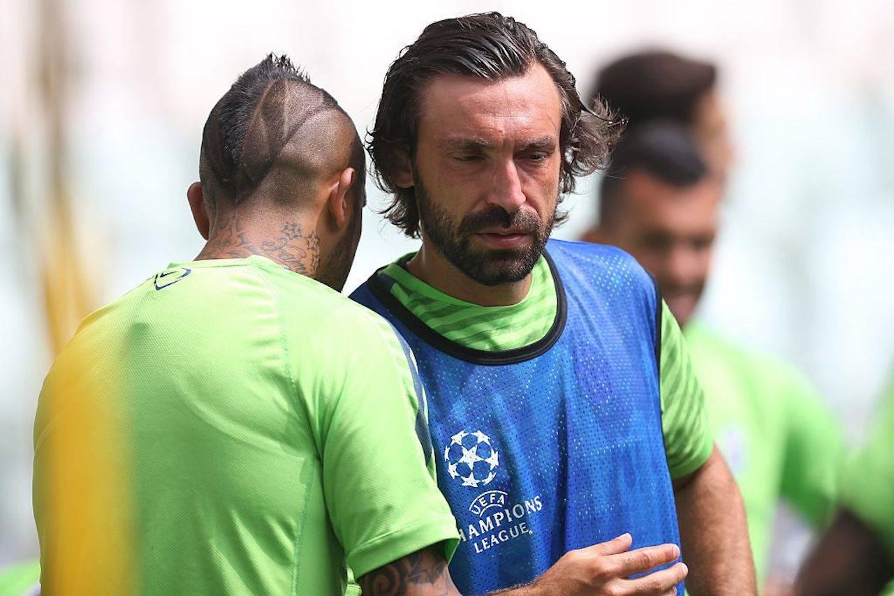Andrea Pirlo e Arturo Vidal