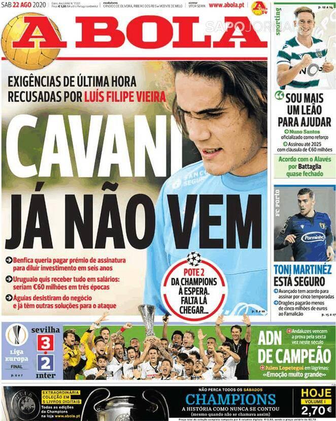 Rui Costa chiude a Cavani: