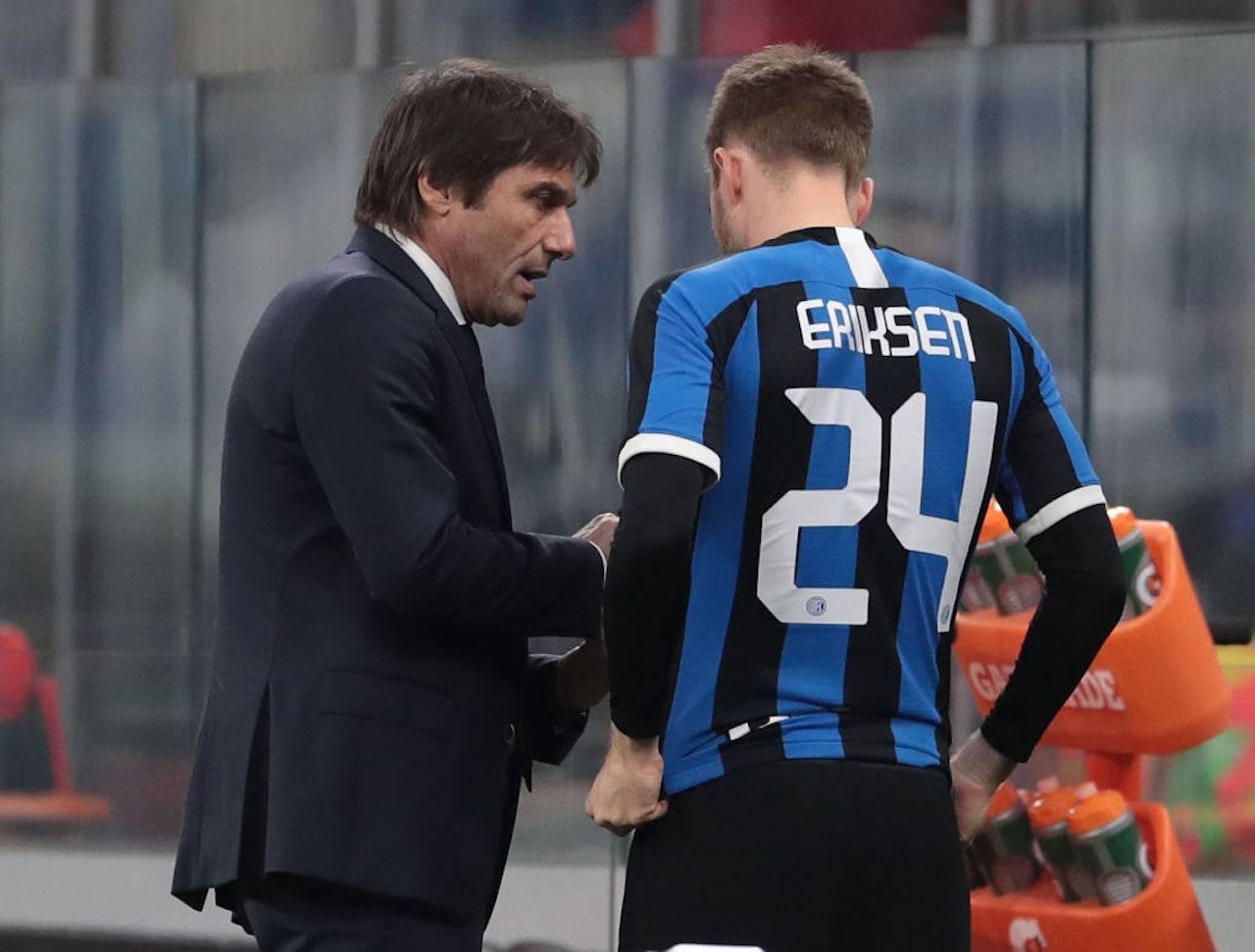 Eriksen Conte critiche Inter-Fiorentina