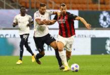 Zlatan Ibrahimovic voti Milan-Bologna