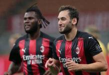 Hakan Calhanoglu pagelle Milan-Bodo