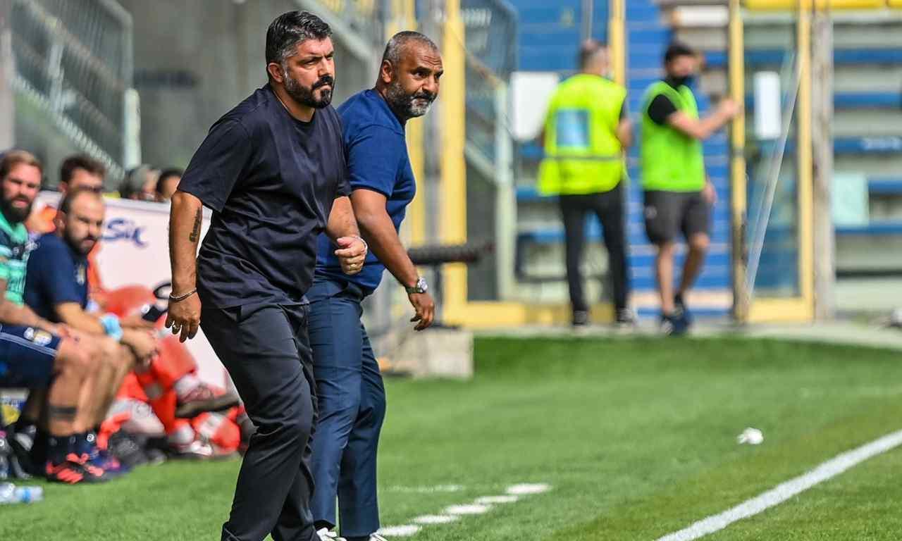 Liverani Gattuso pagelle Parma Napoli