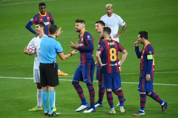 Espulsione Pique Barcellona Juve