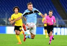 Ciro Immobile pagelle Lazio-Borussia