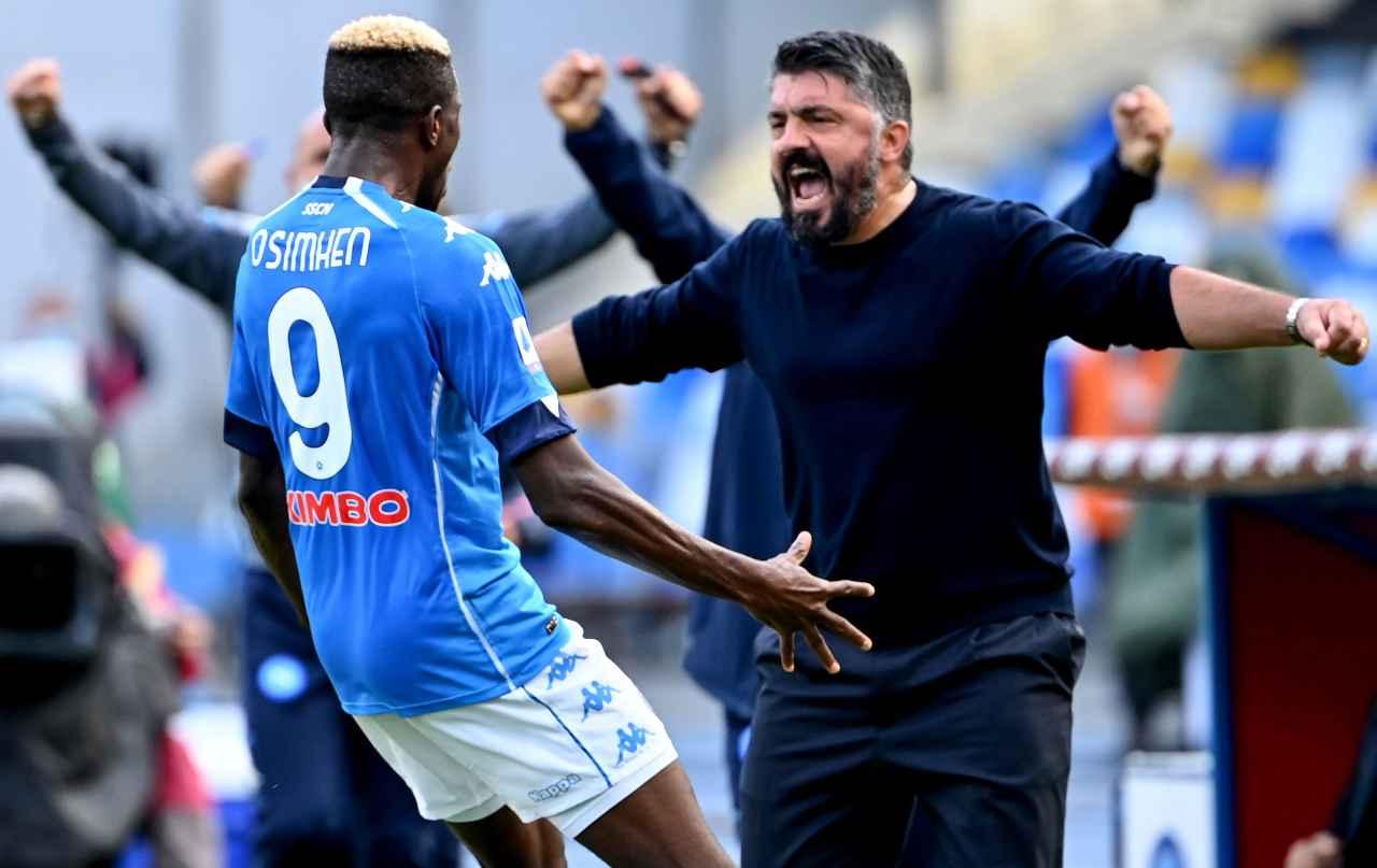 Gattuso riporta sulla terra il Napoli: