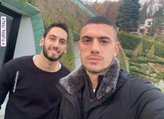 Calhanoglu e Demiral su Instagram