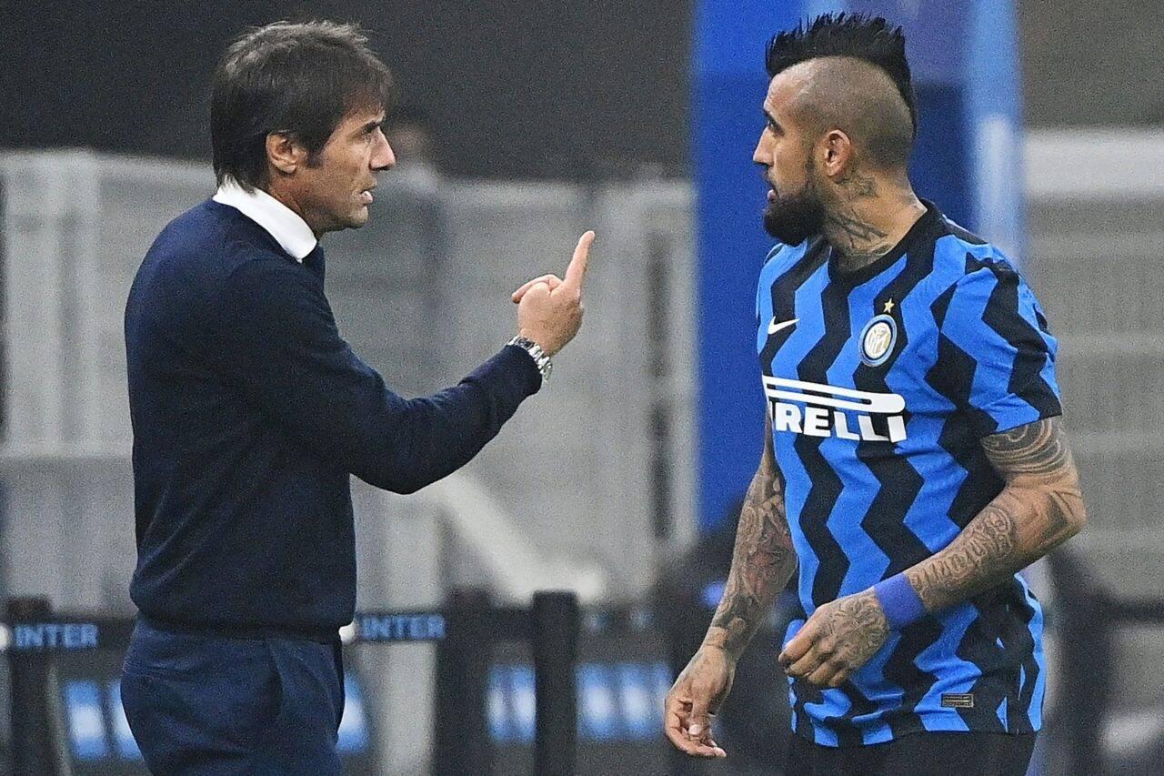 Calciomercato Inter Vidal Conte
