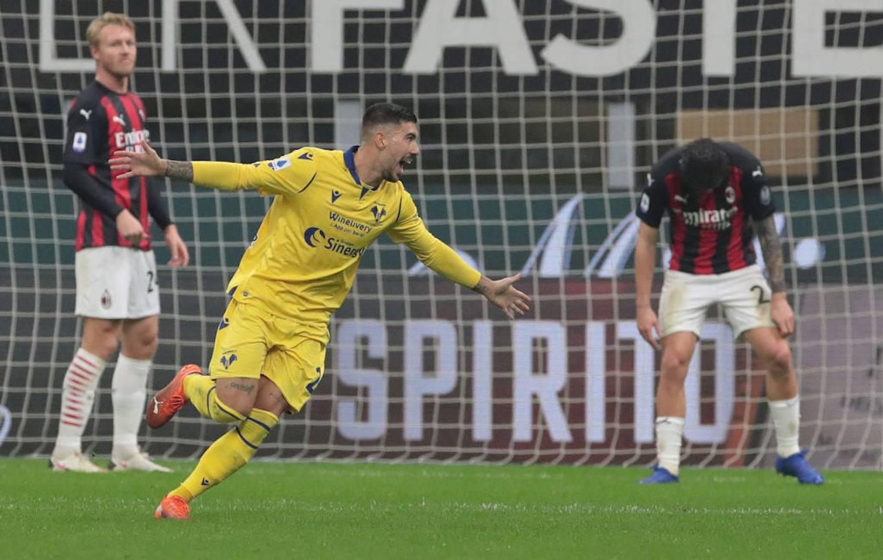Zaccagni voti Milan-Verona