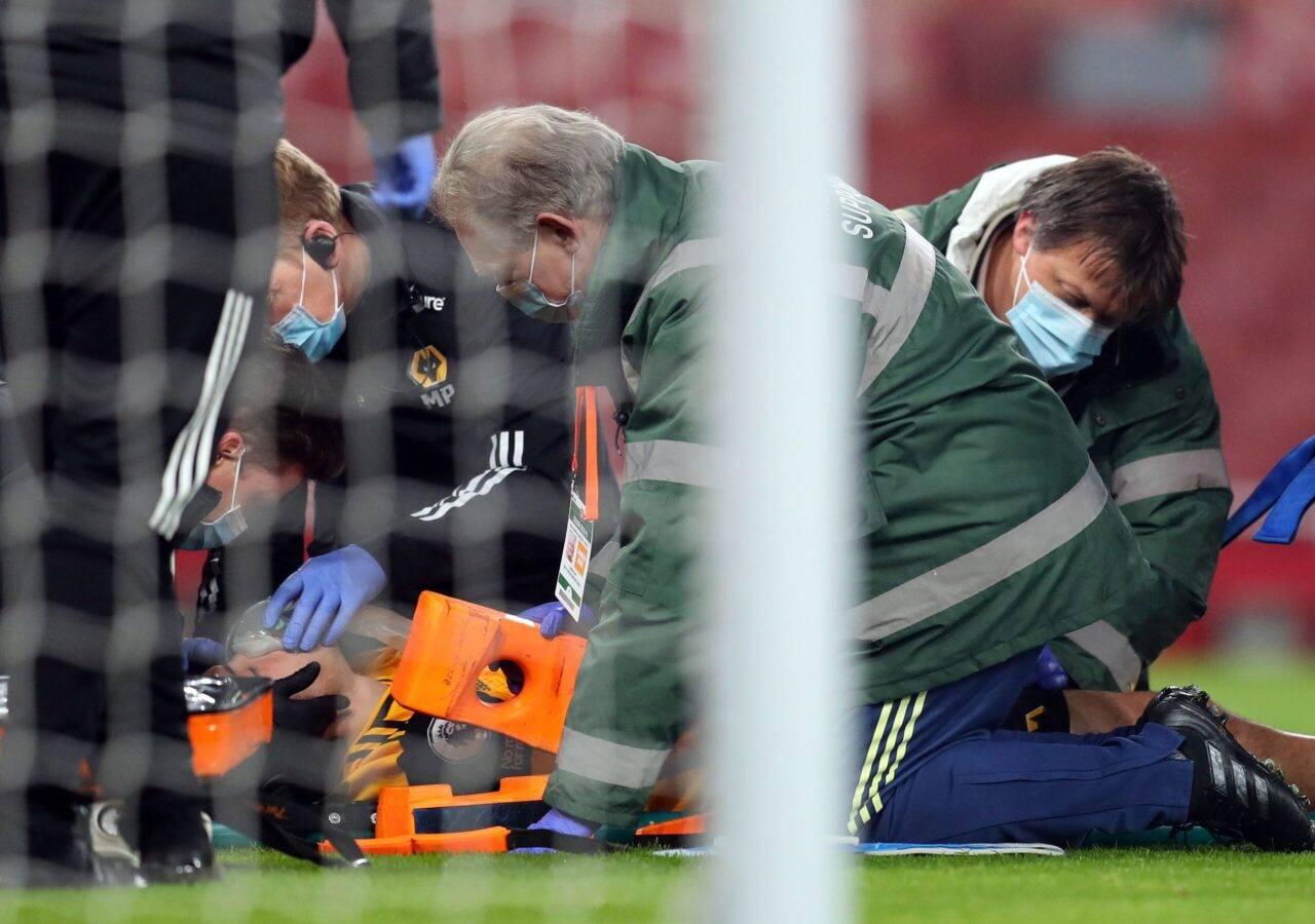 Raul Jimenez, scontro con David Luiz (Video): le condizioni