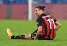 Ibrahimovic infortunio Milan