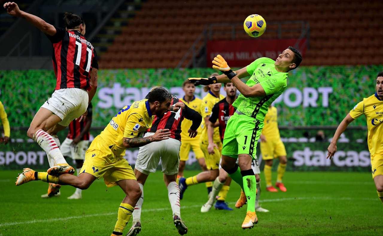 Serie A, Milan-Verona 2-2: Ibrahimovic salva Pioli nel finale