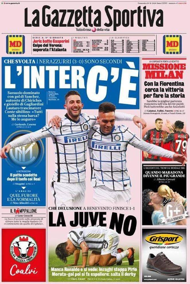 Gazzetta dello Sport 29 novembre