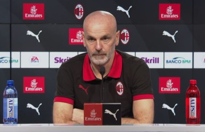 Conferenza Pioli Milan Lazio