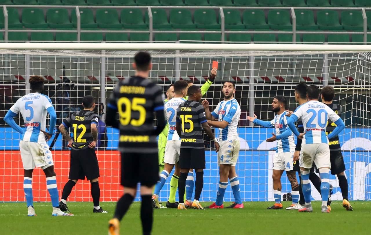 Insigne espulso Inter Napoli
