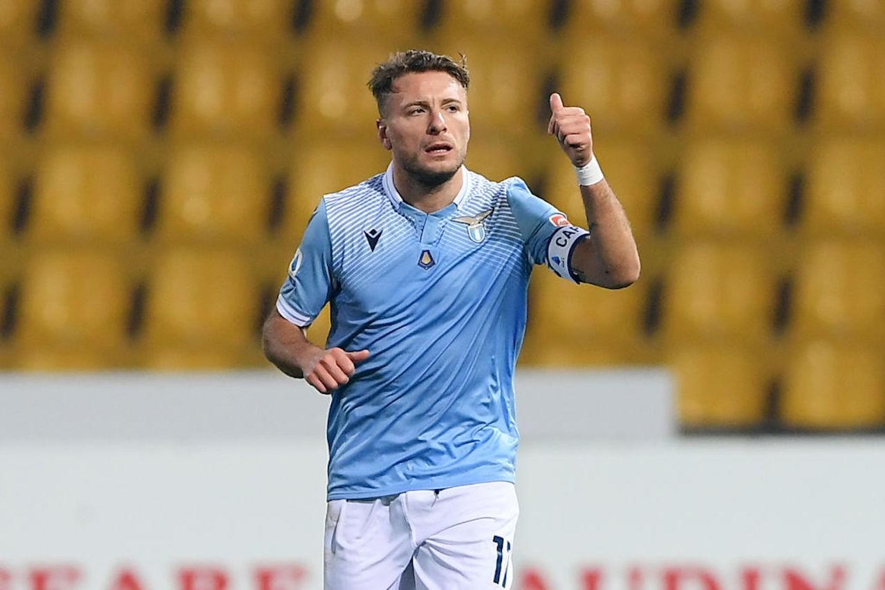 Immobile pagelle Benevento-Lazio