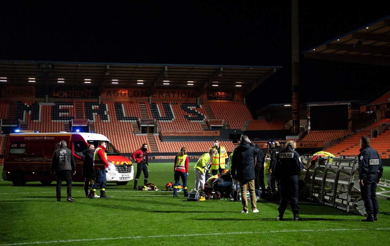 Ligue 1, dramma in Lorient-Rennes: morto un giardiniere colpito dai riflettori - Sportmediaset