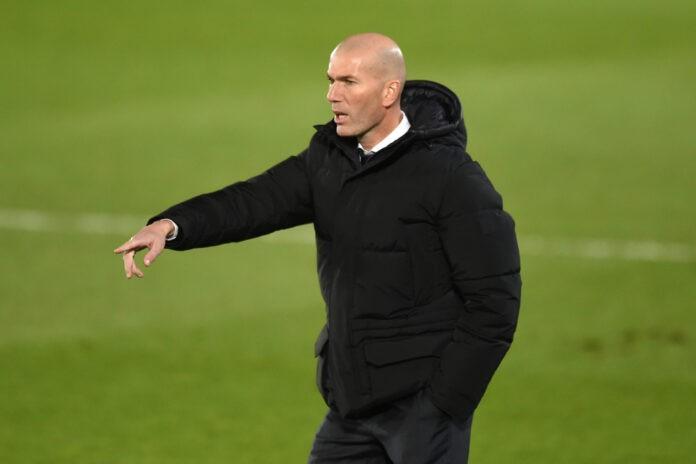 Zidane in panchina col Real Madrid