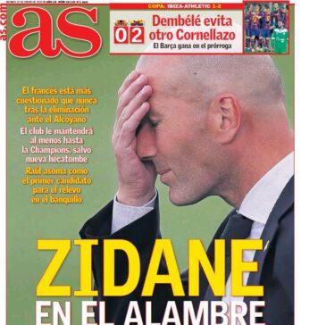 AS, la prima pagina di oggi 22 gennaio 2021