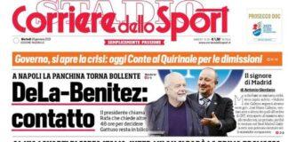 Corriere dello Sport, la prima pagina del 26 gennaio