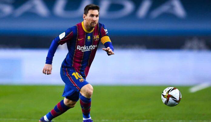 Lionel Messi in azione