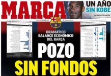 Marca, la prima pagina di oggi 26 gennaio 2021
