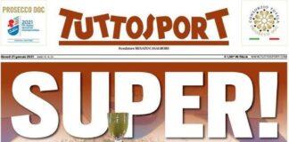 TuttoSport, la prima pagina di oggi 21 gennaio 2021