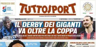 TuttoSport, la prima pagina di oggi 26 gennaio 2021
