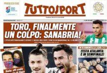 TuttoSport, la prima pagina di oggi 28 gennaio 2021