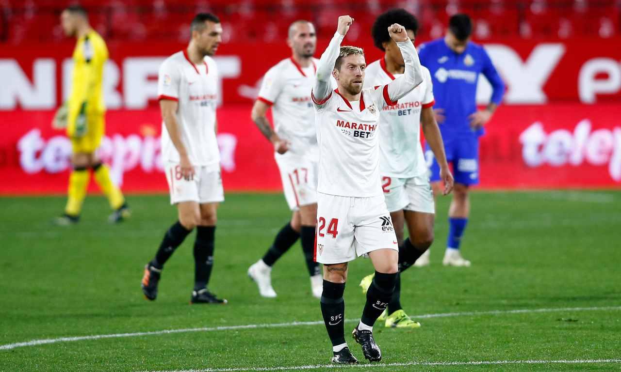 Siviglia, primo gol per il Papu Gomez   Gioiello contro il Getafe