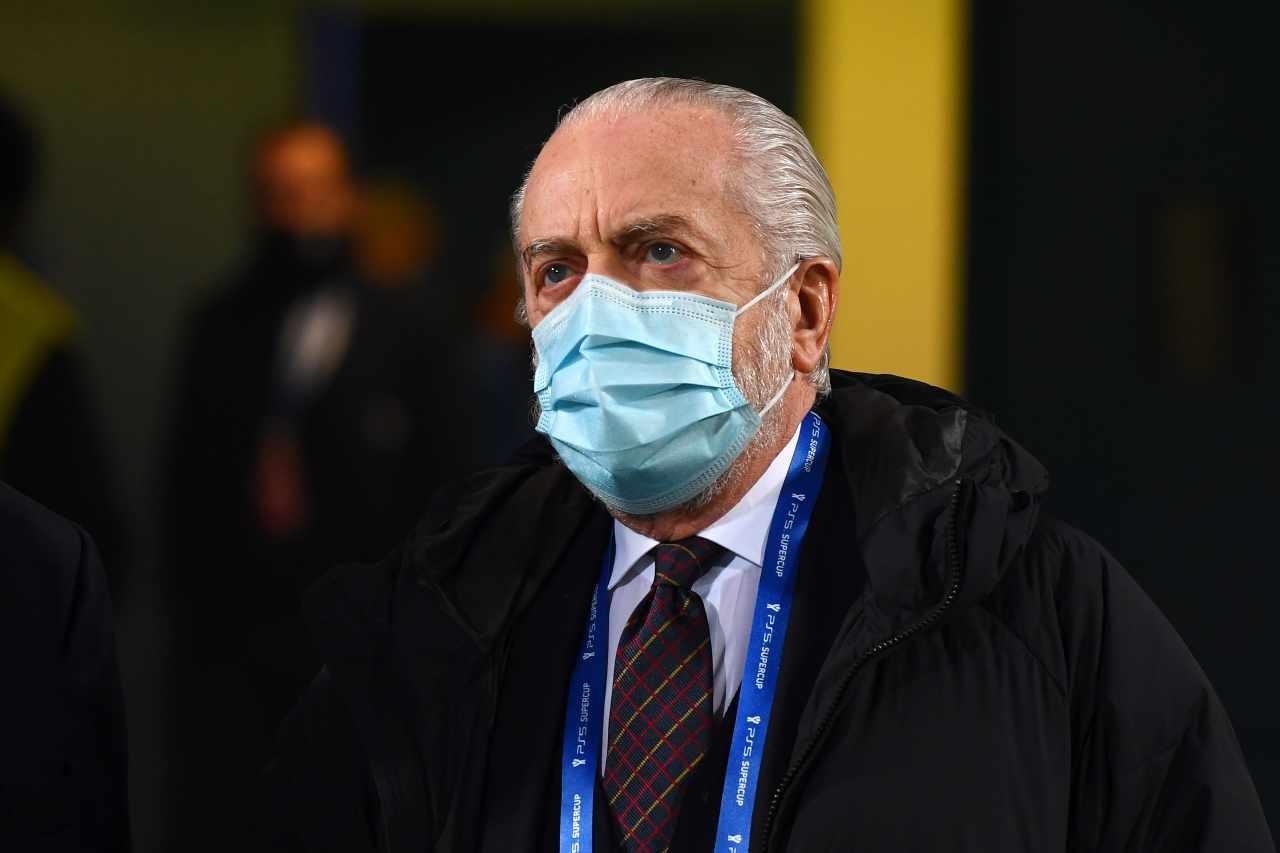 Atalanta-Napoli, De Laurentiis via a fine primo tempo | Il punto su Gattuso