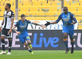 Serie A, Parma-Udinese 2-2 | Rimontano i friulani con Okaka e Nuytinck