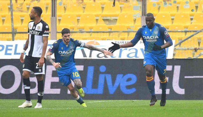 Serie A, Parma-Udinese 2-2   Rimontano i friulani con Okaka e Nuytinck