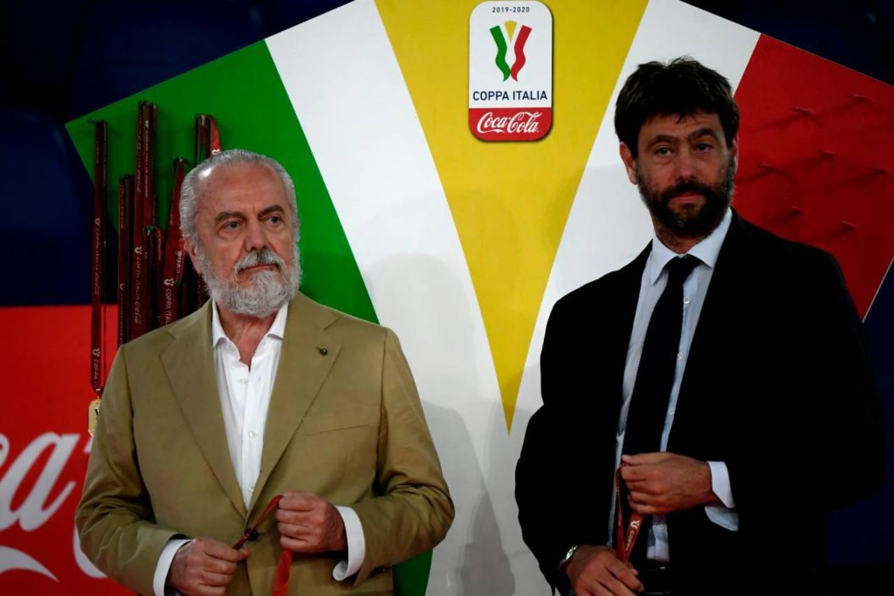 Napoli-Juventus, Agnelli e De Laurentiis diventano alleati! I dettagli