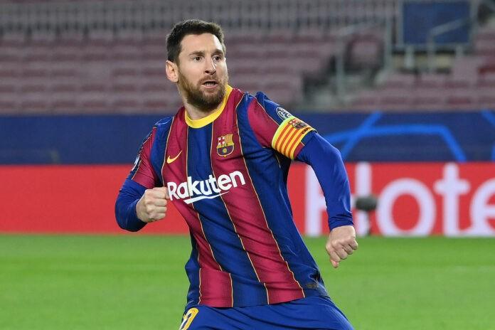 Messi esulta in campo