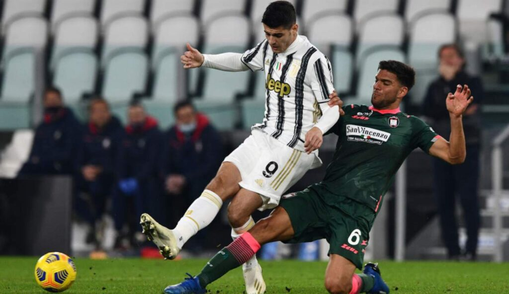 Morata contrasto Juventus