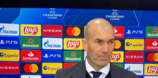 Zidane post Atalanta-Real