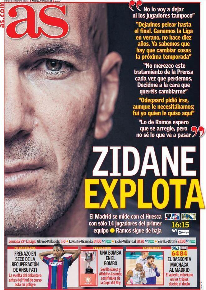 AS, la prima pagina del 6 febbraio 2021