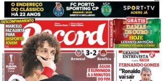 Record, la prima pagina di oggi 26 febbraio