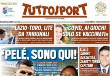 TuttoSport, la prima pagina di oggi 27 febbraio 2021